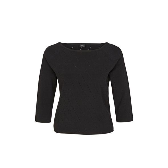 Pullover mit Diagonal-Strickmuster - Strickpullover