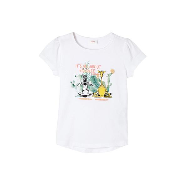 T-Shirt mit Glitzer-Print - Jerseyshirt