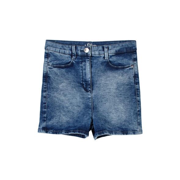 Jeansshorts mit hohem Bund - Denim-Shorts
