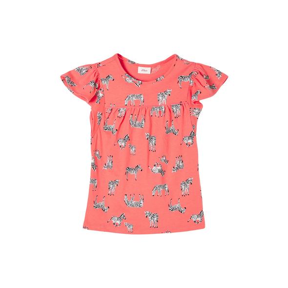 T-Shirt mit Zebra-Print - Jerseyshirt