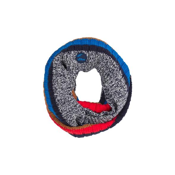Strick-Loop mit Muster - Strickschal