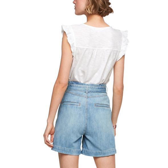 Baumwollshirt mit Volantärmeln - Shirt