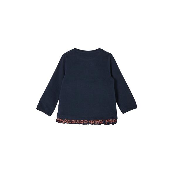 Jerseyshirt mit Rüschendetail - Langarmshirt