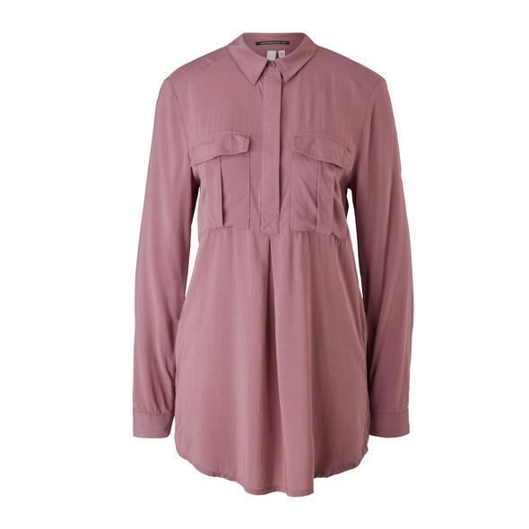 Longbluse mit Brusttasche - Bluse
