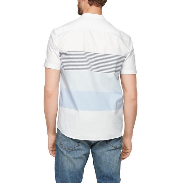 Regular: Hemd mit Leinen - Kurzarmhemd