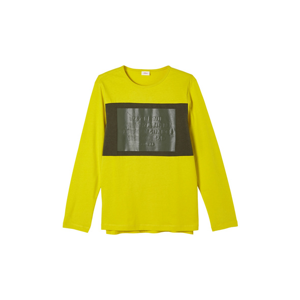 Jerseyshirt mit Gummiprint - Langarmshirt