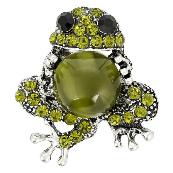 Brosche - Sparkling Frog