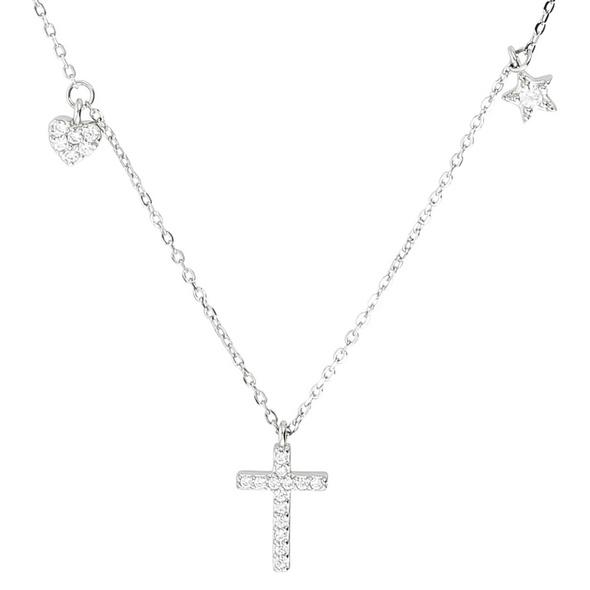 Kette - Heart & Cross & Star