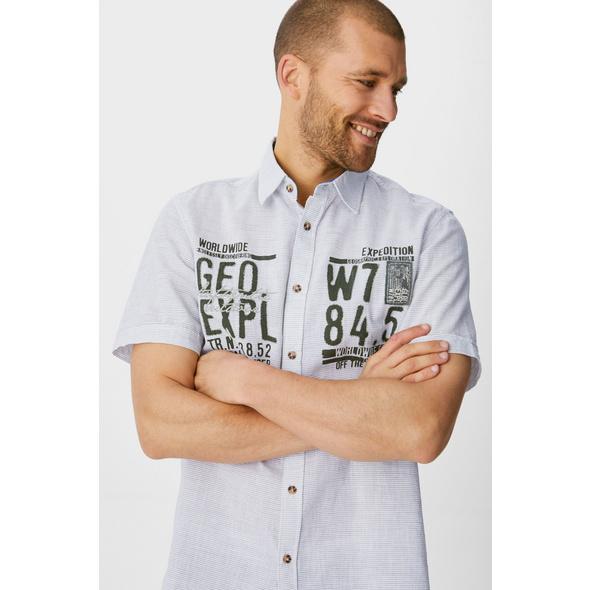 Hemd - Regular Fit - Kent - Bio-Baumwolle - gestreift