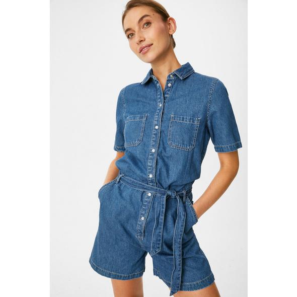 Jeans-Playsuit