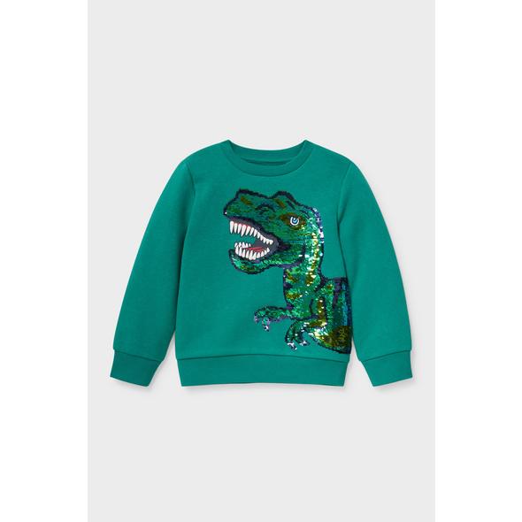 Dino - Sweatshirt - Bio-Baumwolle - Glanz-Effekt