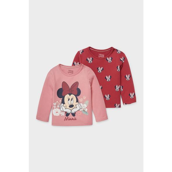 Multipack 2er - Minnie Maus - Baby-Langarmshirt