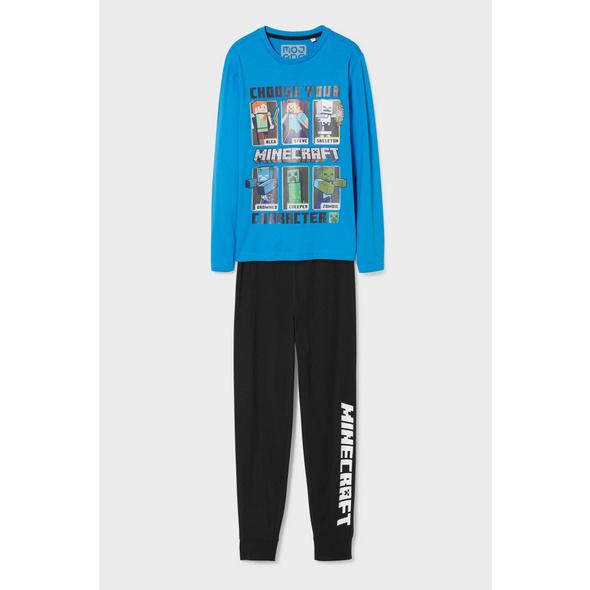 Minecraft - Pyjama - Bio-Baumwolle - 2 teilig