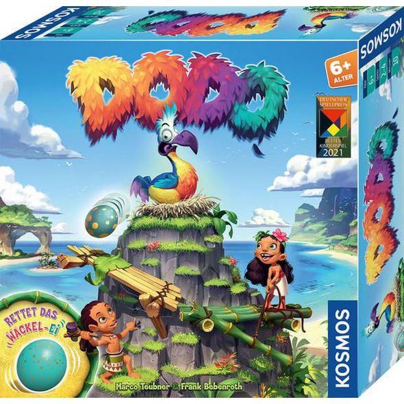 KOSMOS 697945 - Dodo, Rettet das Wackel-Ei, Familienspiel