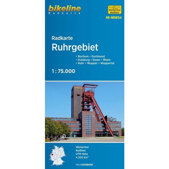 Bikeline Radkarte Deutschland Ruhrgebiet 1 : 75 000 (RK-NRW04)