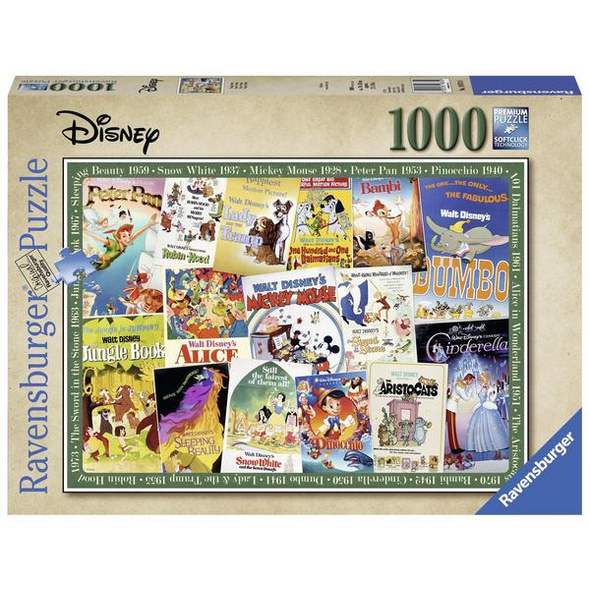Ravensburger 19874 - Disney Vintage Movie Poster, Puzzle,