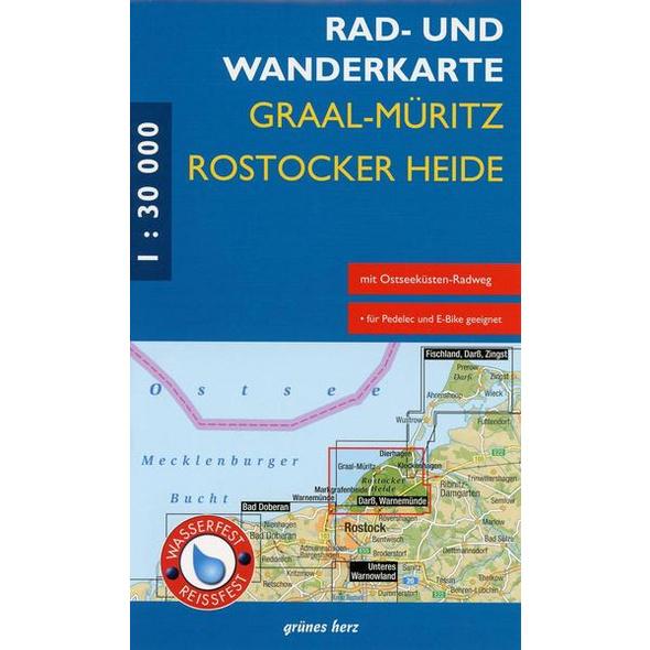 Graal-Müritz, Rostocker Heide 1 : 30 000 Rad- und Wanderkarte