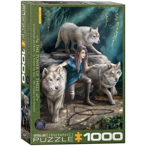 Eurographics 6000-5476 - Anne Stokes, The Power of Three, Triquetra, Wölfe, Puzzle,