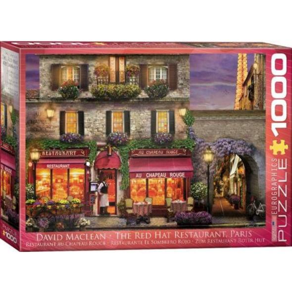 Eurographics 6000-0963 - Zum Chapeau Rouge Restaurant in Paris, Puzzle
