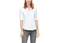 Leinenbluse mit Tunika-Ausschnitt - Bluse