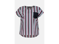 Blusenshirt, Streifen, oversized, Baumwolle